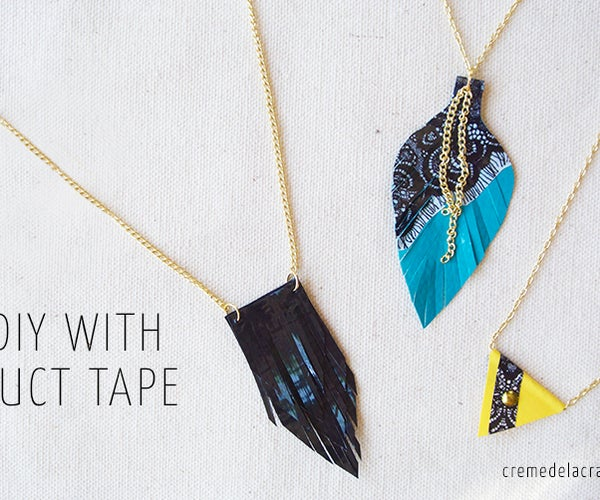 DIY: 3 Duct Tape Necklaces