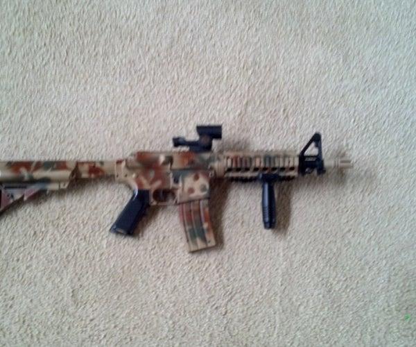 How to Paint an Airsoft Gun Camo