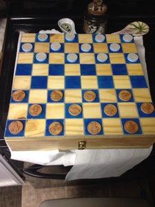 Frozen Checker Board Box