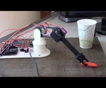 3-D Printed Arduino Robot Arm