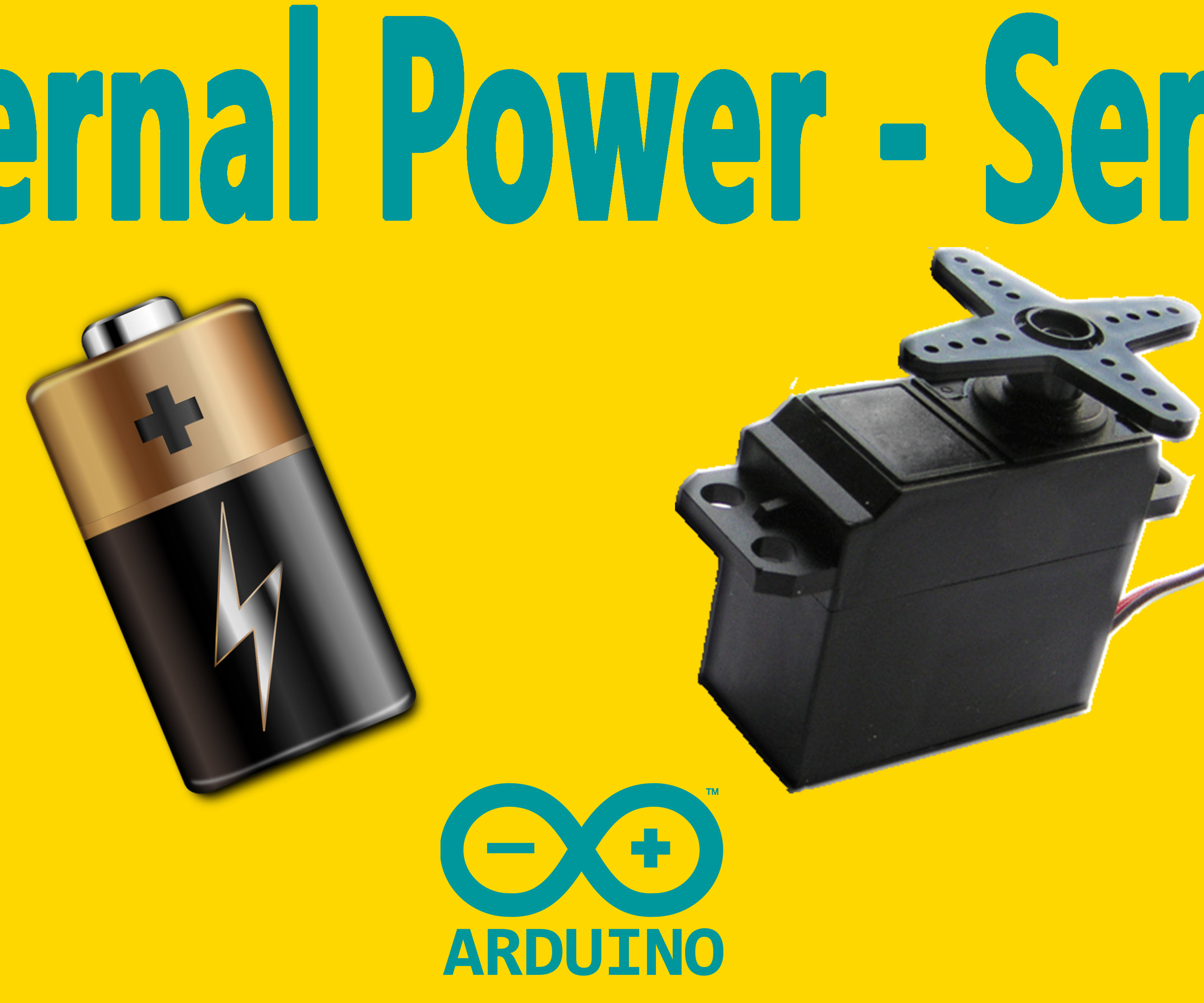 Arduino : How to Use a Servo Motor With an External Power