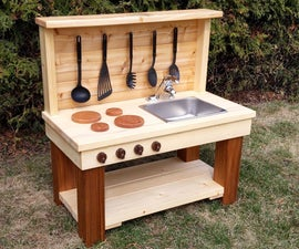 Scrap Wood Mud Kitchen