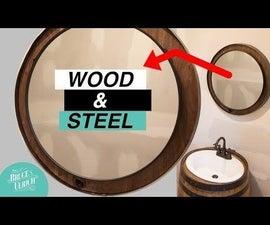DIY Reclaimed Metal and Wood Mirror