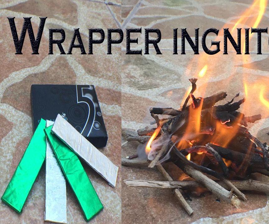 Battery + Gum Wrapper = Pyromania !