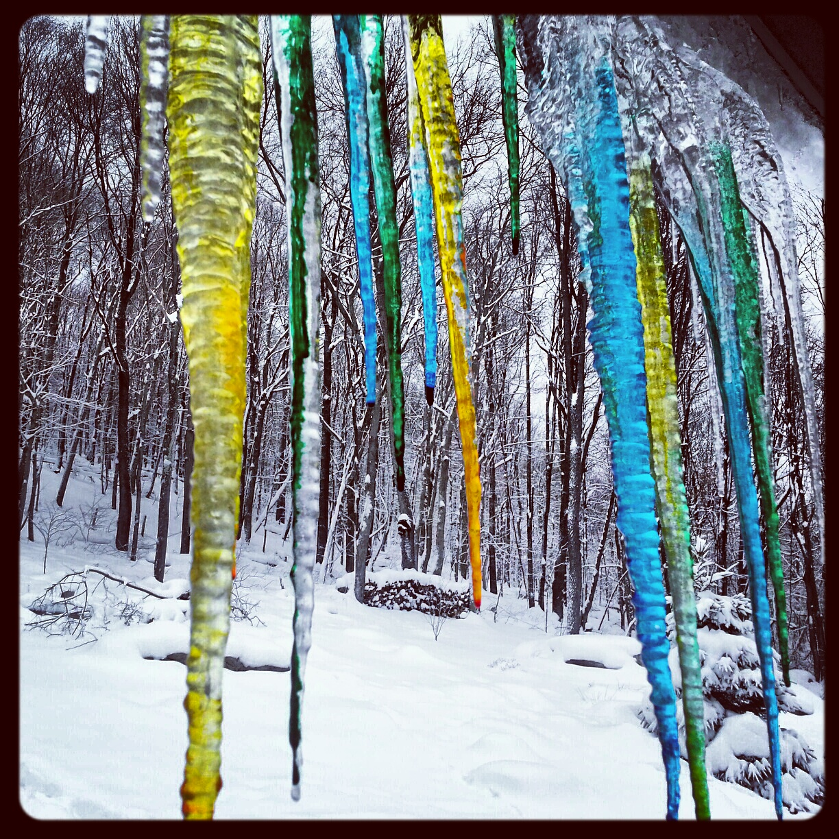 Colored Icicles