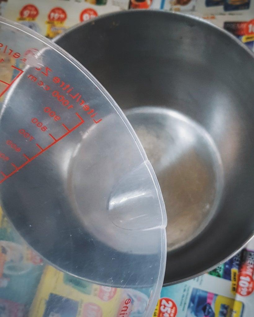 Measure 280ml of Water.