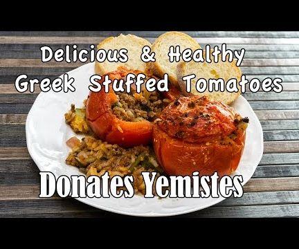 Greek Stuffed Tomatoes (Donates Yemistes)