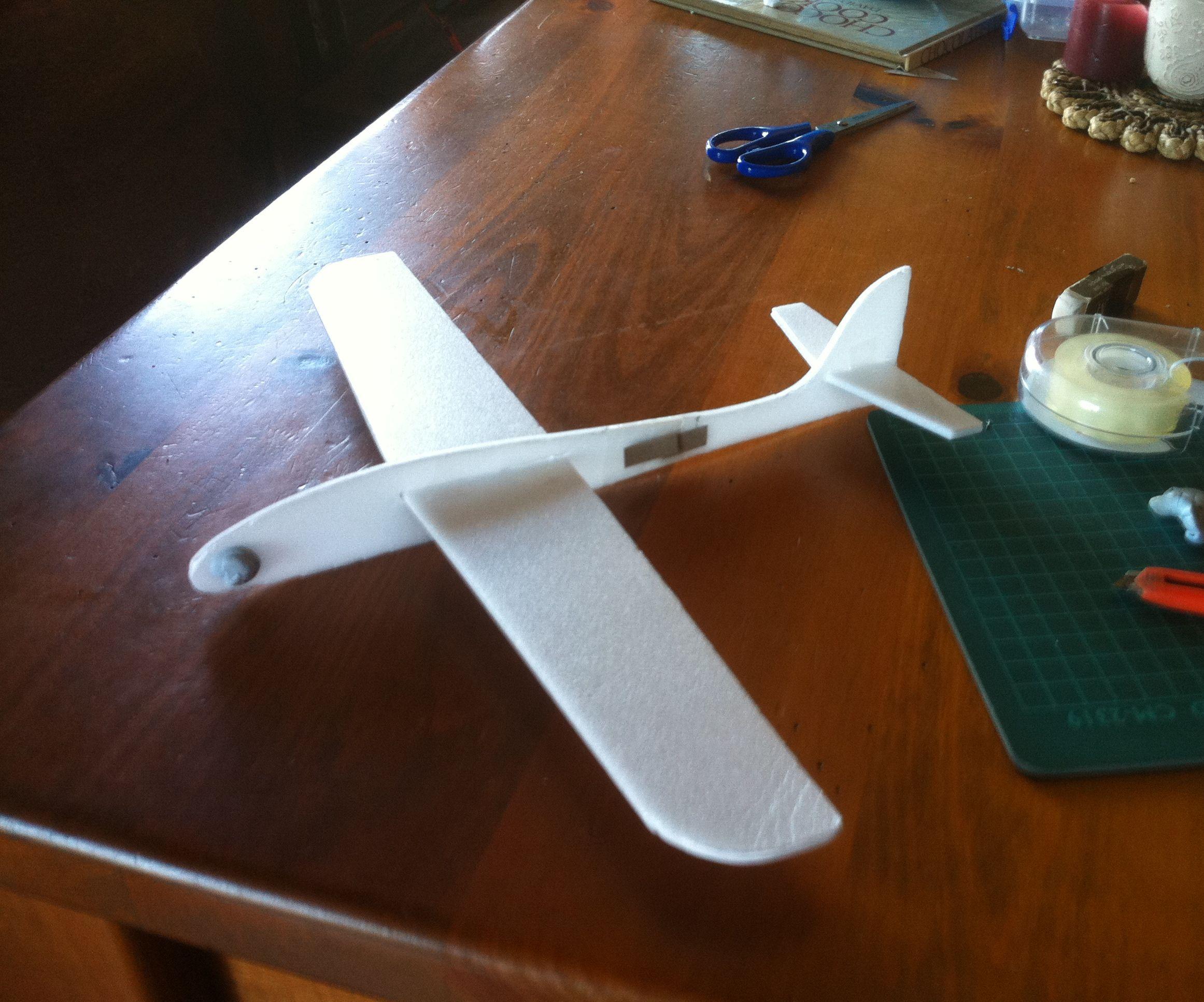 Kids Home Made Glider using Depron Foam