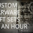 Your Logo and Name on Beer Mug, Wine Glasses in an hour