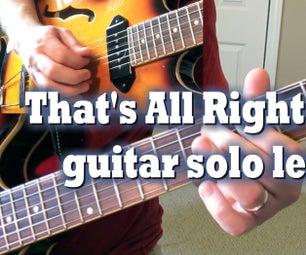 That's All Right Mama Guitar Solo Lesson