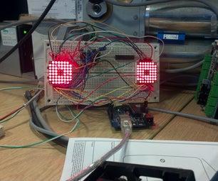 Arduino 8x8 Matrix Mad Eyes