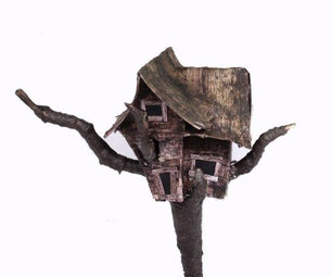 Haunted Treehouse Miniature From Commonly Found Stuff