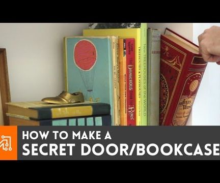 How to Make a Secret Door/book Case