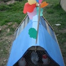 CHICKEN RUN MADE FROM RECYCLED SHIPPING PALLETS