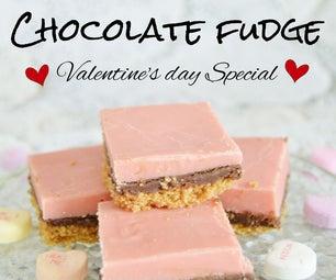 Layered Chocolate Fudge for Valentine's Day