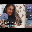 Scrap CDs to Aesthetic Decor (paint Sky on Cds)
