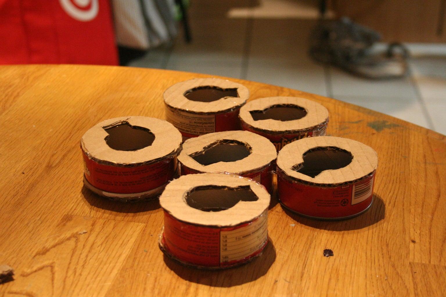 Glue the Rings to Make Tumblers