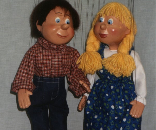 Boy and Girl Marionette Puppets