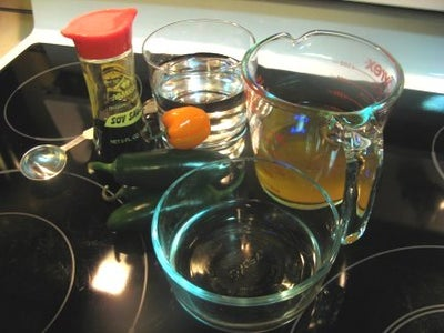 Ingredient List and Step 1 (Making the Pepper Marinade)