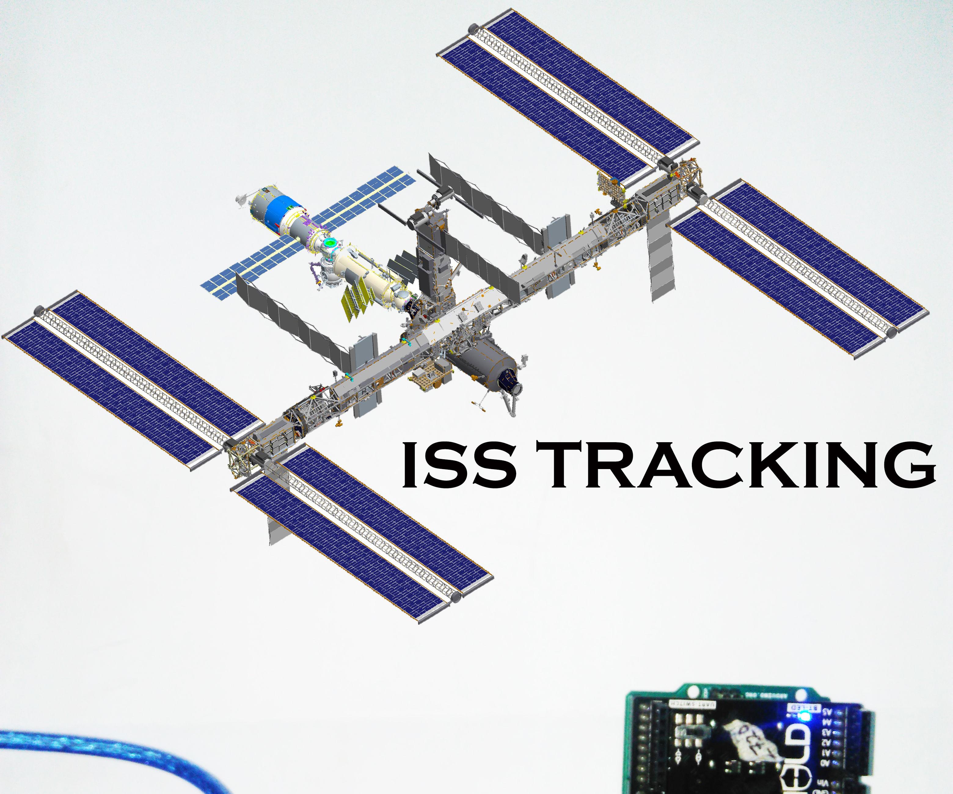 Tracking the ISS using adruino and onesheeld.
