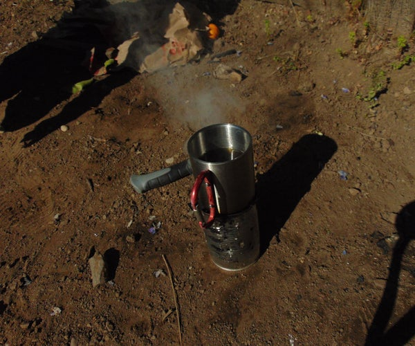 DIY Camping Stove Out of Bean Cans