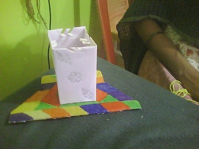 Attach Box to Cardboard