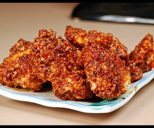 Honey Sriracha Chicken Bites