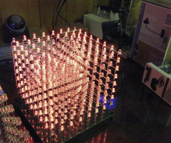 8x8x8 Arduino LED Cube