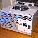 A Raspberry Pi PC-PSU Desktop Computer With Hard Disk, Fan, PSU and On-Off Switch