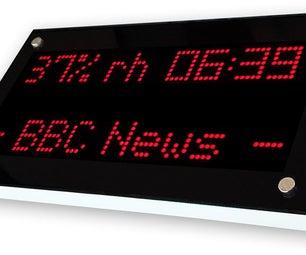 ESP32 LED Matrix WIFI Ticker Display