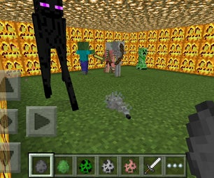 Fighting Mobs in Minecraft P.E!!!