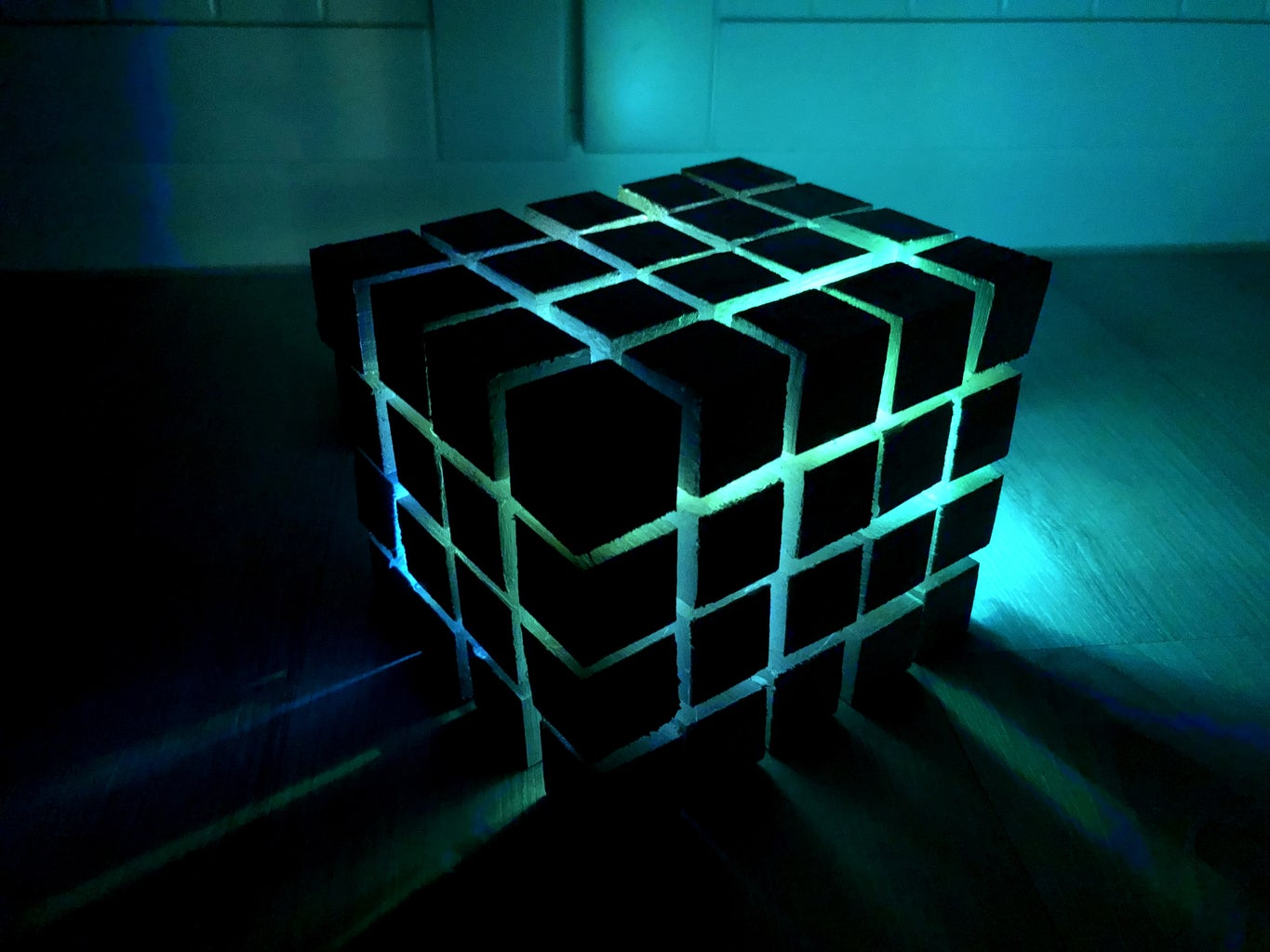 Color Changing Decorated Cube