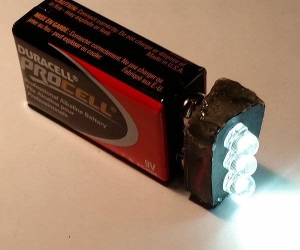 DIY 9 Volt LED Emergency/Backpack Flash Light