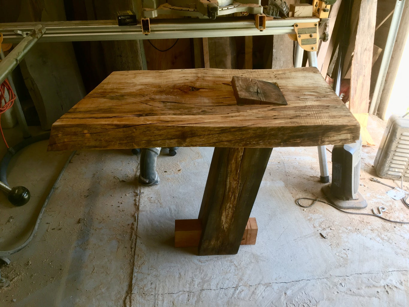 Live Edge Cantilevered Side Table