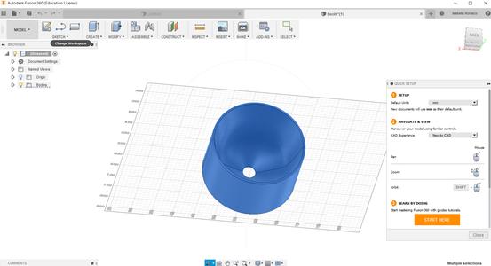 Create the Shape on Fusion 360 Autodesk