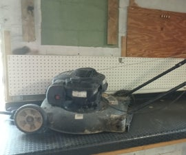 Recycled Lawn Mower Engine.