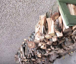 """Wood Pile """"book End"""" Supports From Pallet"""