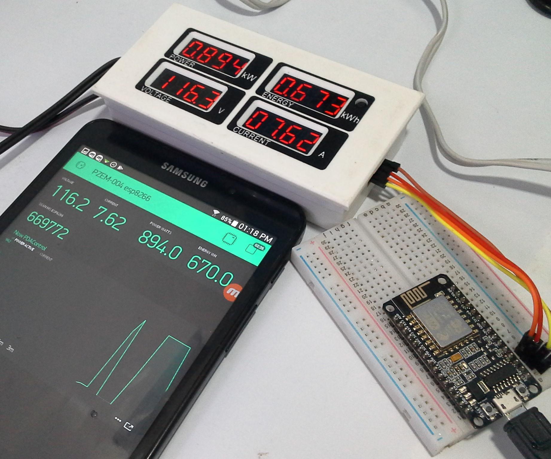 Meter PZEM-004 + ESP8266 & Platform IoT Blynk App