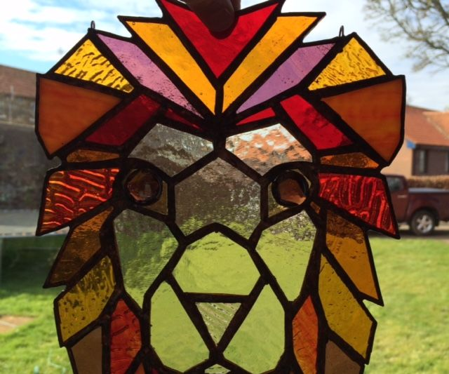 Stained Glass Lion