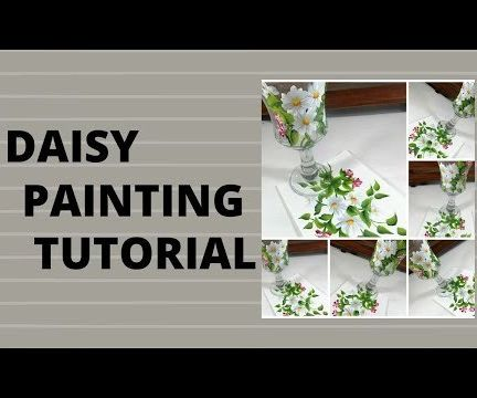DAISY PAINTING TUTORIAL