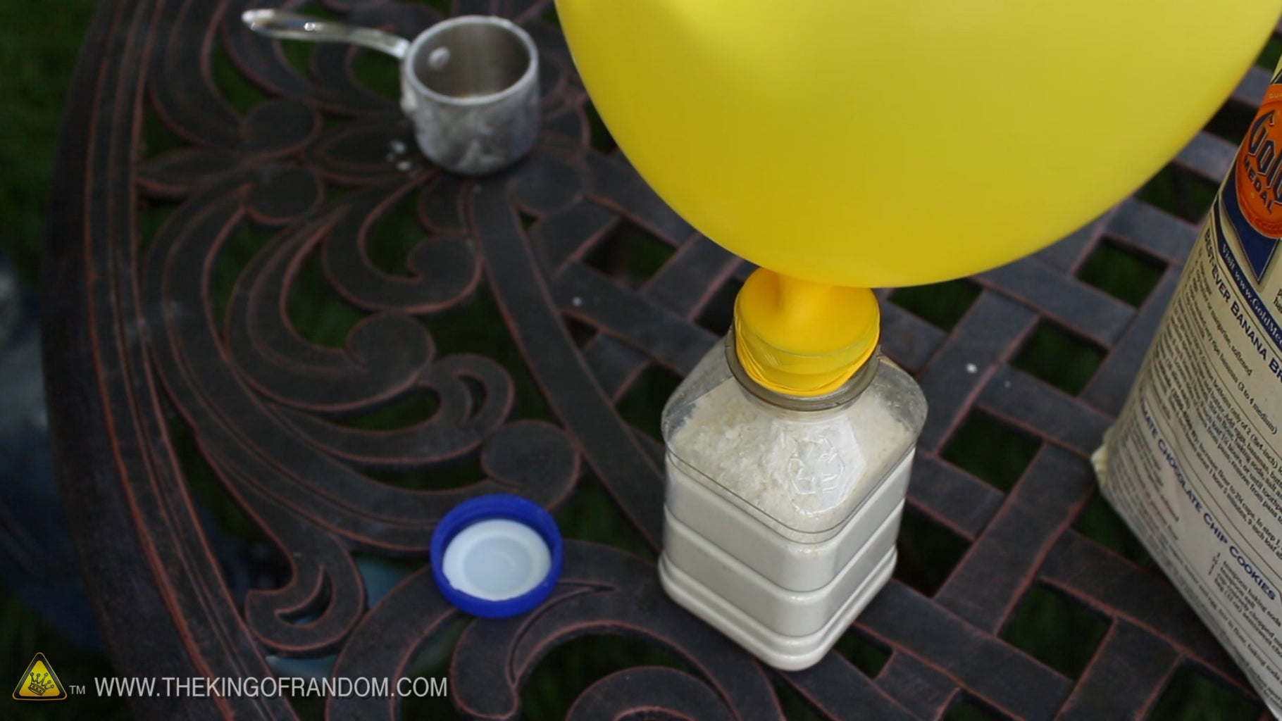 Geting the Flour in the Balloon