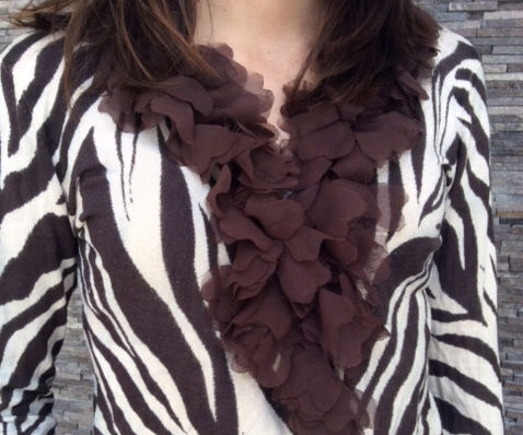 Fancy Applique - Faux Feathered Boa