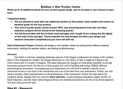 Extension Project #11 - Build a Weather Station