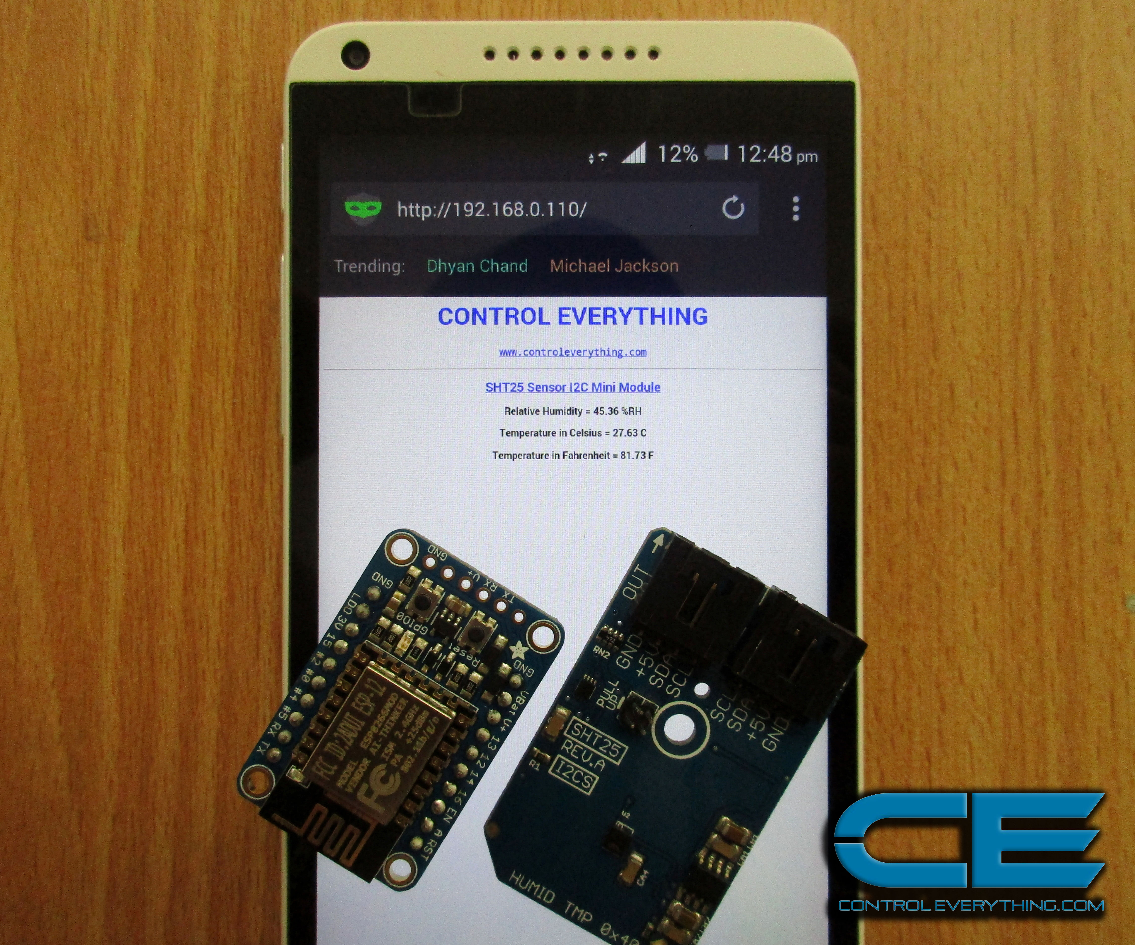 ESP8266 Weather Monitor Web Server (Without Arduino)