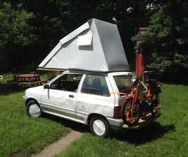 Festfalia, a Ford Festiva Flip Top Hyper Miler Camper