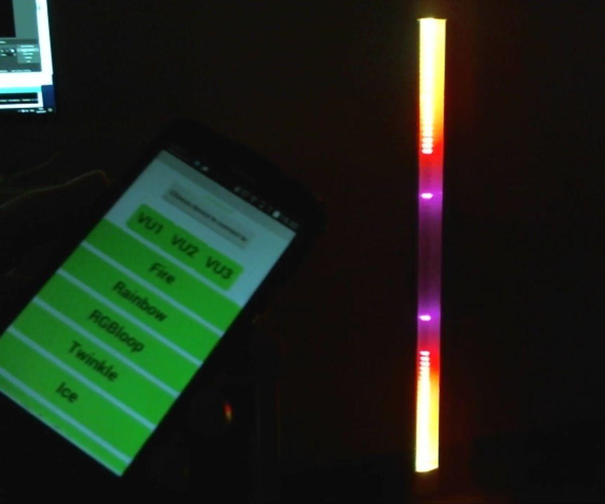 120cm Neopixel LED Bar - 3x VU Meter + Other Light Effects - Arduino - Bluetooth