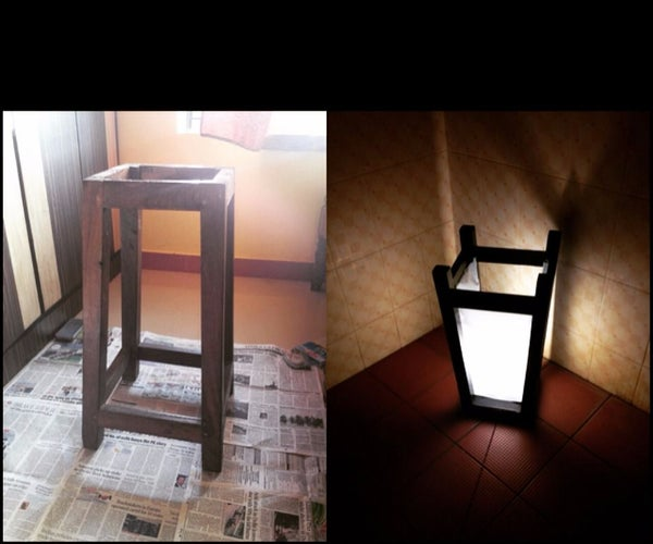 Upcycling a Broken Stool to a Night Lamp