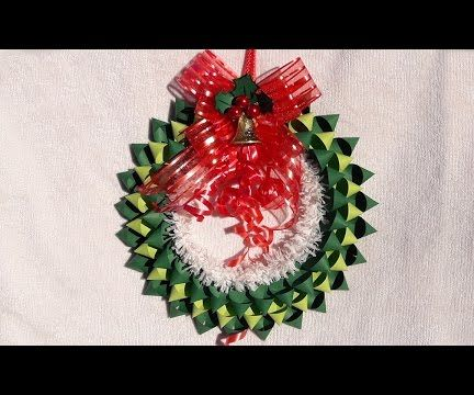 How to make DIY christmas wreath with paper