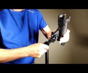 Boom Mic Pole to Light Stand Adaptor