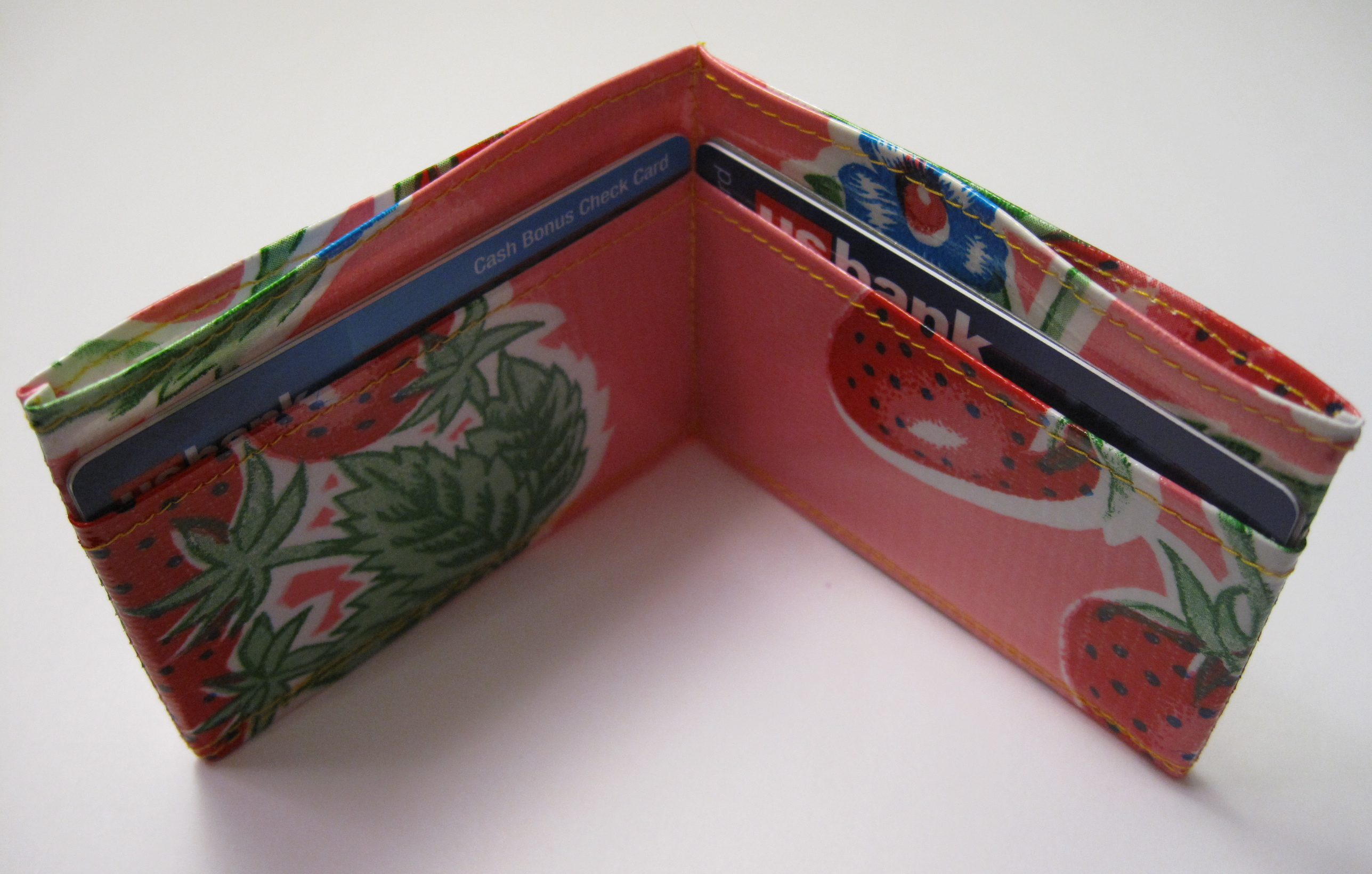 sew a simple oilcloth wallet